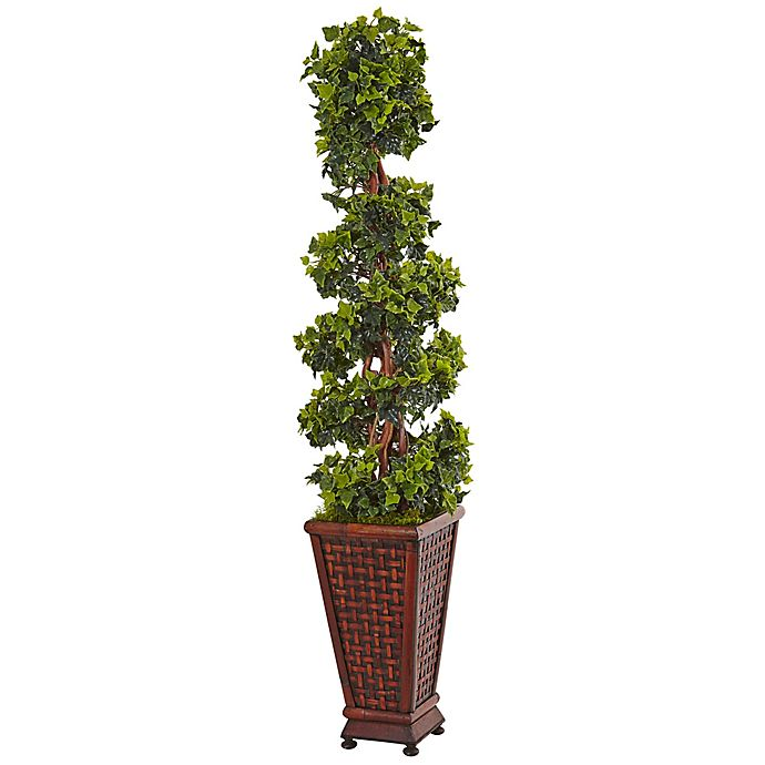 Alternate image 1 for Nearly Natural 4.5-Foot English Ivy Tree in Brown Wood Planter