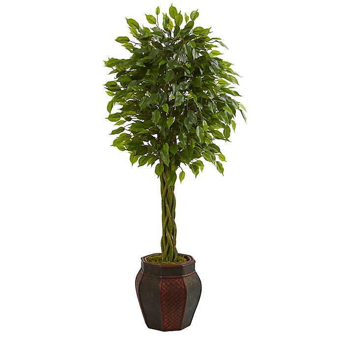 Alternate image 1 for Nearly Natural 4.5-Foot Braided Ficus Tree in Chinese Basket Planter