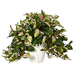Nearly Natural 16-Inch Hoya Artificial Plant in Ceramic Vase