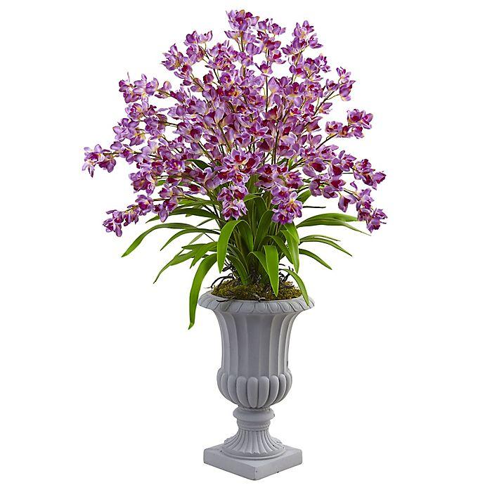 Alternate image 1 for Nearly Natural 41-Inch Orchid Arrangement in White Urn