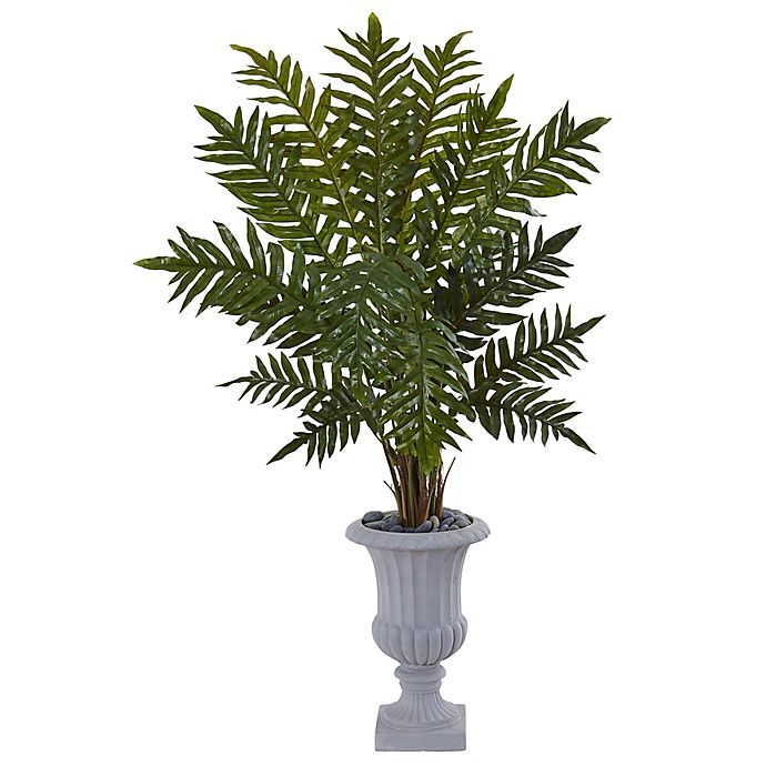 Alternate image 1 for Nearly Natural 4.5-Foot Evergreen Plant in Grey Urn