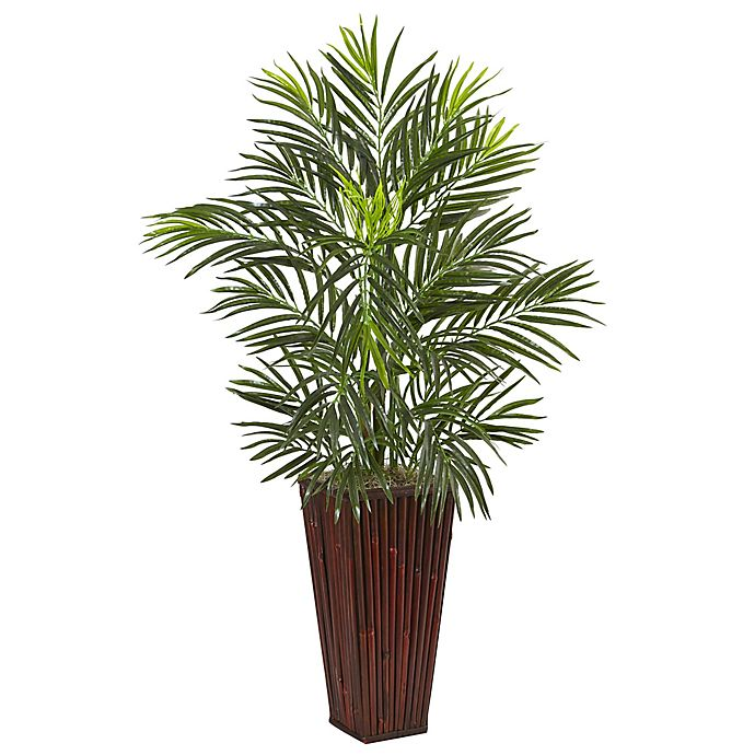 Alternate image 1 for Nearly Natural 41-Inch Areca Palm Tree in Bamboo Tower Planter