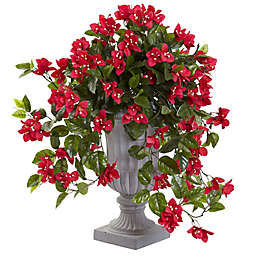 Nearly Natural 28-Inch Bougainvillea in White Urn