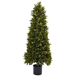 Nearly Natural 50-Inch Pine Tree in Black Nursery Pot