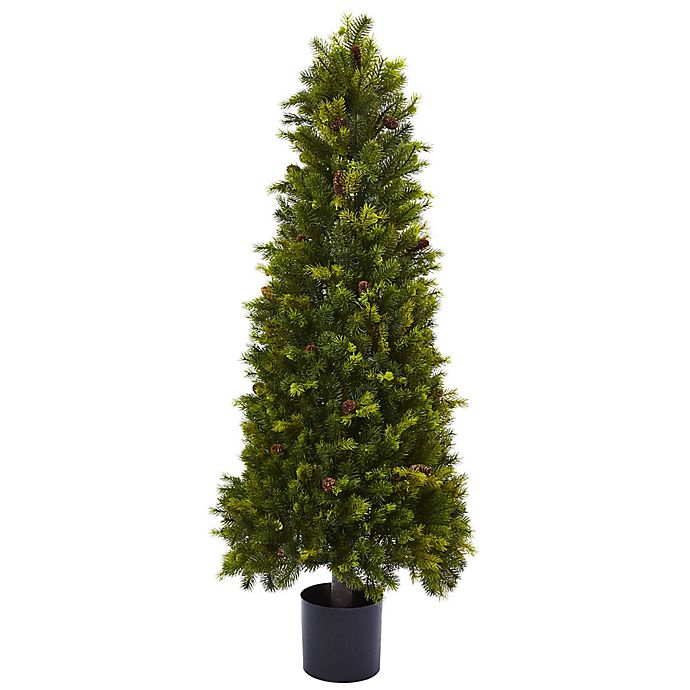 Alternate image 1 for Nearly Natural 50-Inch Pine Tree in Black Nursery Pot
