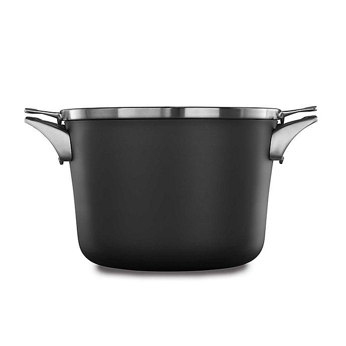 Alternate image 1 for Calphalon® Premier™ Space Saving Hard Anodized Nonstick 8 qt. Covered Stock Pot