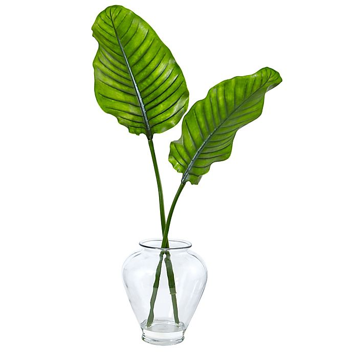 Alternate image 1 for Nearly Natural 37-Inch Traveler's Palm in Glass Vase