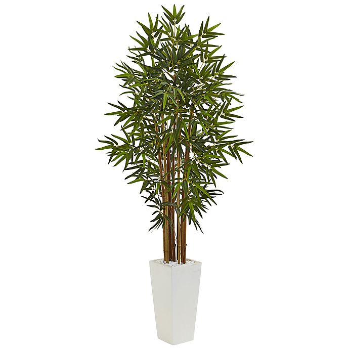 Alternate image 1 for Nearly Natural 5-Foot Bamboo Tree in White Tower Planter