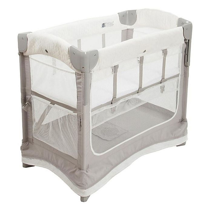 Alternate image 1 for Arm's Reach® Mini Ezee™ Deluxe 2-in-1 Co-Sleeper® Bassinet in Grey/White