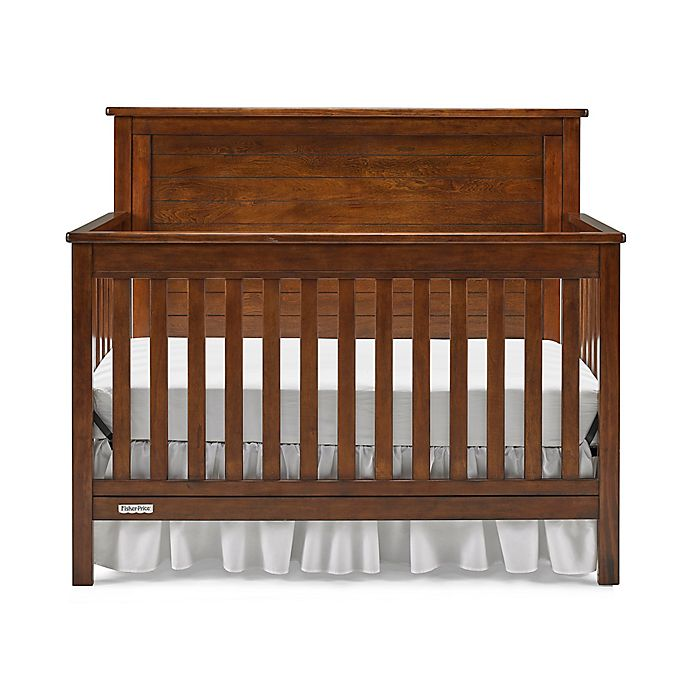 Alternate image 1 for Fisher-Price® Quinn 4-in-1 Convertible Crib in Rustic Brown