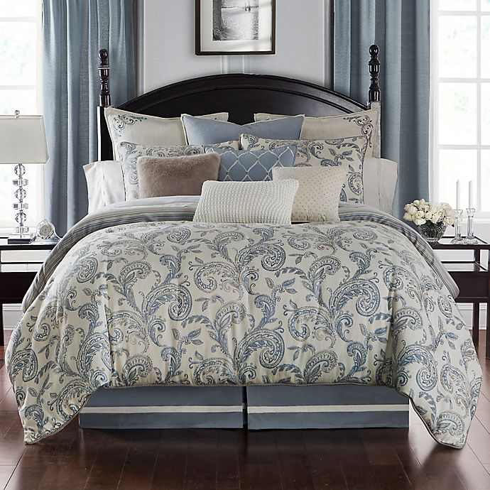 Alternate image 1 for Waterford® Florence Reversible Duvet Cover Set