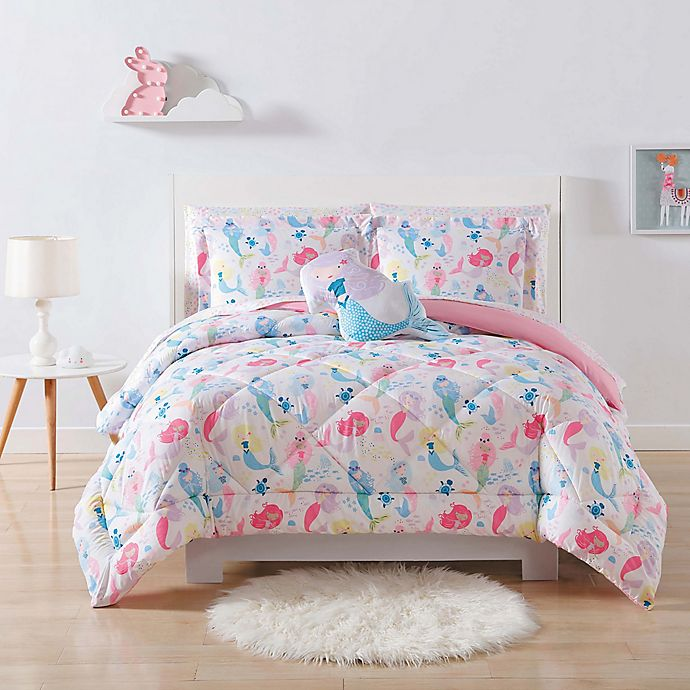 Alternate image 1 for My World Mermaids Reversible Comforter Set