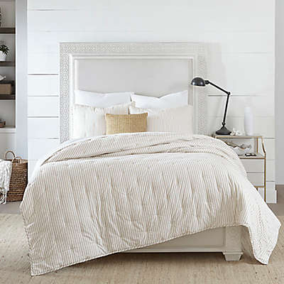 Coastal Living Coastal Ticking Stripe Quilt Set