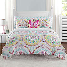 Beautifly 7-Piece Comforter Set in Yellow