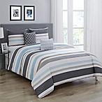 Wonder Home Courtney 5-Piece Queen Comforter Set in Blue Grey
