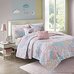 Urban Habitat Kids Cloud Reversible Coverlet Set in Pink
