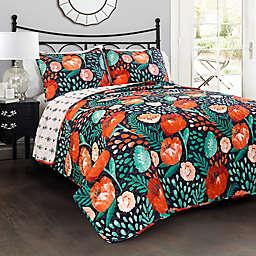 Lush Decor Poppy Garden Reversible Quilt Set