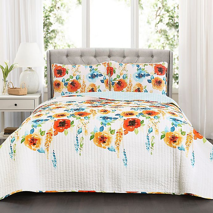 Alternate image 1 for Lush Decor Percy Bloom Quilt Set