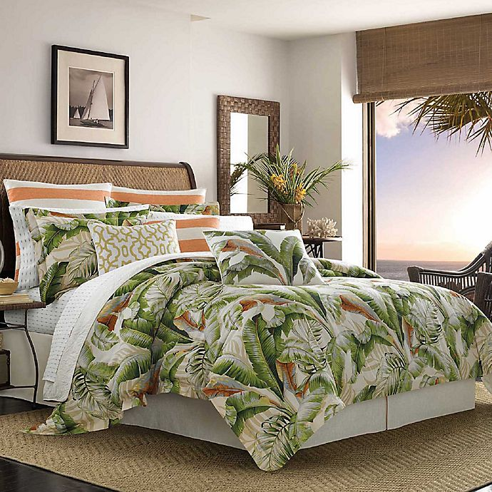 Alternate image 1 for Tommy Bahama® Palmiers Reversible California King Comforter Set in Green