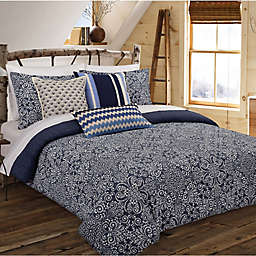 Nouvelle Home Cutwork Medallion Reversible Comforter Set