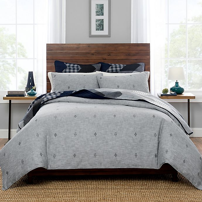 Alternate image 1 for Pendleton® Ashland King Duvet Cover Set in Grey
