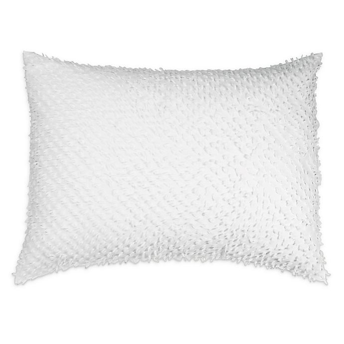 Alternate image 1 for Peri Home Dot Fringe King Pillow Sham in White