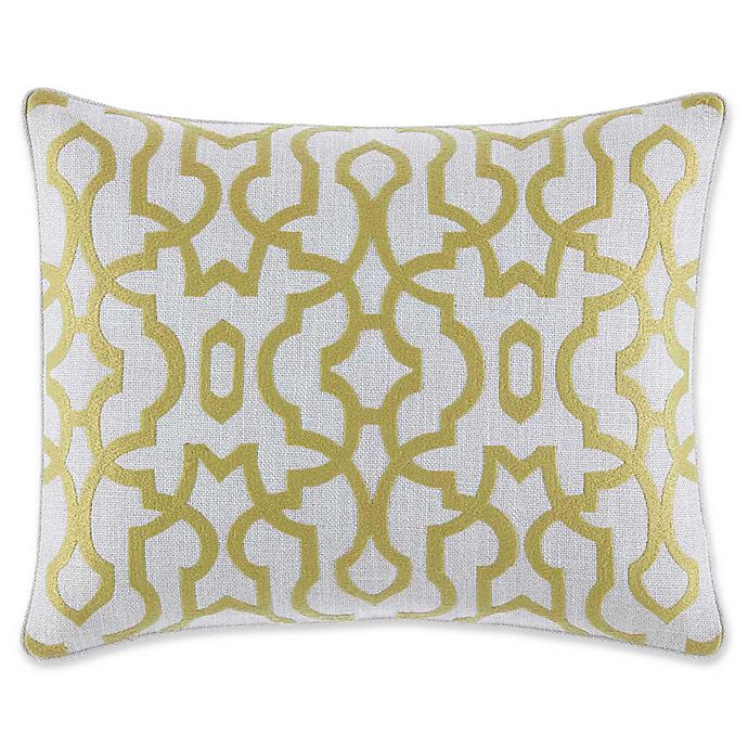 Alternate image 1 for Tommy Bahama® Palmiers Oblong Throw Pillow in Light Green