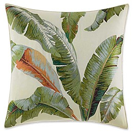 Tommy Bahama Palmiers Palm Square Throw Pillow in Green
