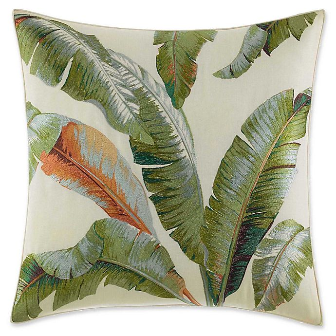 Alternate image 1 for Tommy Bahama Palmiers Palm Square Throw Pillow in Green
