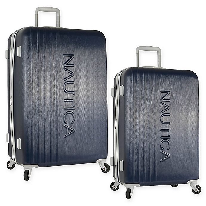 Alternate image 1 for Nautica® Life Boat Hardside Spinner Checked Luggage