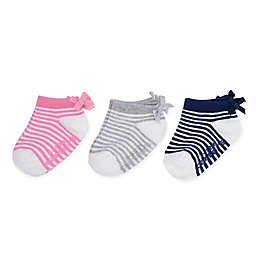 carter's® 3-Pack Ankle Socks in Pink/Grey/Navy
