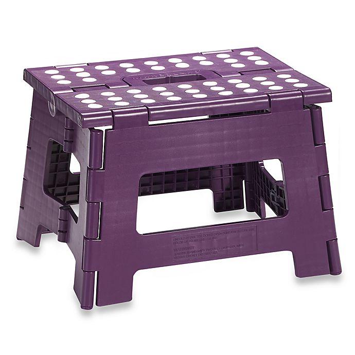 Cool Kikkerland Easy Fold Plastic Step Stool Wineberry Purple Pdpeps Interior Chair Design Pdpepsorg
