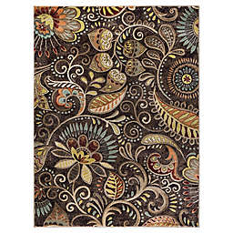Tayse Rugs Giselle 3'11 x 5'3 Area Rug in Brown