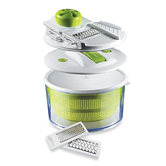 Sharper Image 4 In 1 Salad Spinner Mandoline Slicer Bed Bath Beyond
