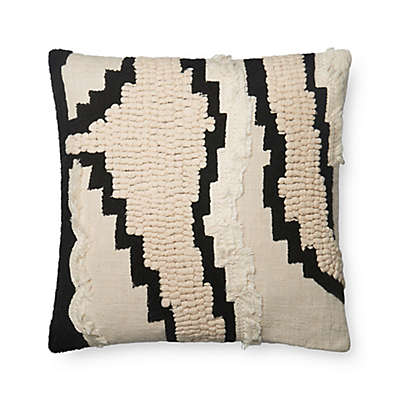 Magnolia Home by Joanna Gaines Elise Square Throw Pillow in Natural/Black