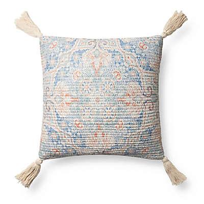 Magnolia Home Elena Square Throw Pillow in Blue/Multi