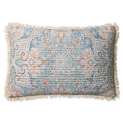Magnolia Home Elena Oblong Throw Pillow in Blue/Multi