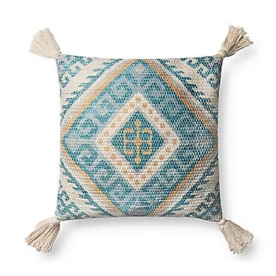 Magnolia Home Zulla Square Throw Pillow in Blue/Multi