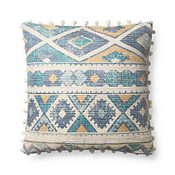 Magnolia Home Marie Square Throw Pillow in Blue/Multi