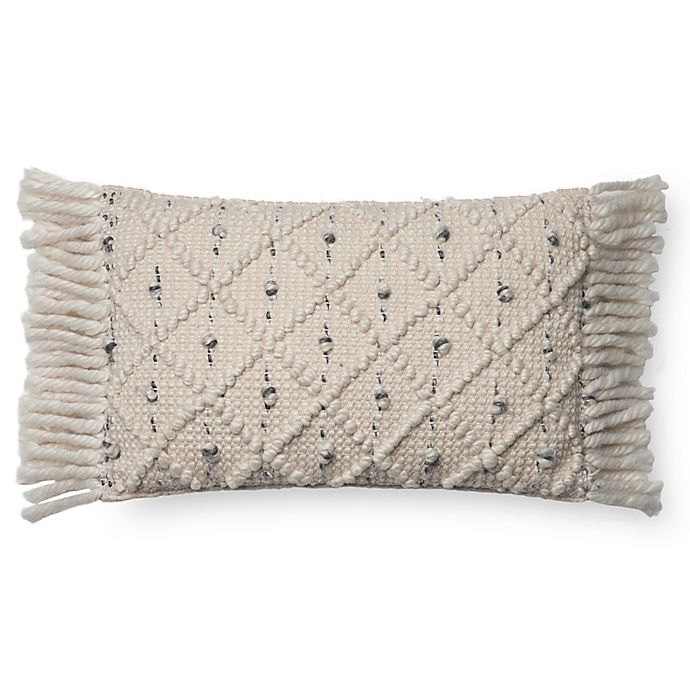 Alternate image 1 for Magnolia Home Jana Oblong Throw Pillow Cover in Ivory/Black