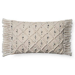 Magnolia Home Jana Oblong Throw Pillow Cover in Ivory/Black
