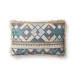 Magnolia Home Marie Oblong Throw Pillow in Blue/Multi
