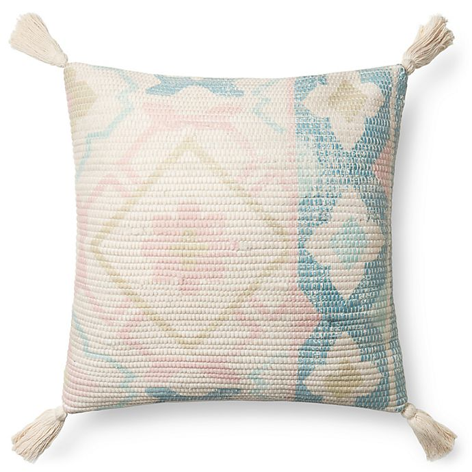 Alternate image 1 for Magnolia Home by Joanna Gaines Janie Square Multicolor Throw Pillow