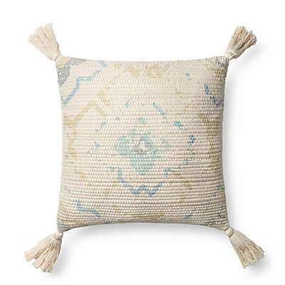 Magnolia Home by Joanna Gaines Laura Square Multicolor Throw Pillow