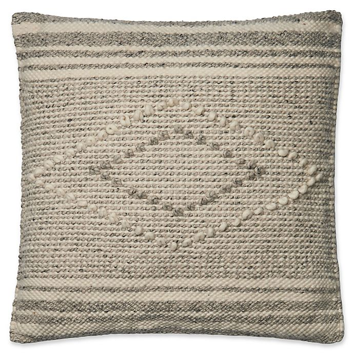 Alternate image 1 for Magnolia Home by Joanna Gaines Sebastian Square Throw Pillow in Grey/Ivory