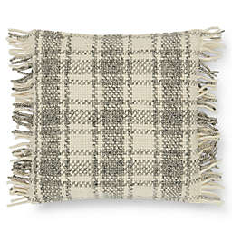 Magnolia Home by Joanna Gaines Alena Square Throw Pillow in Grey/Ivory
