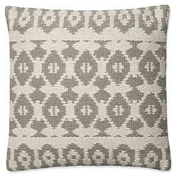 Magnolia Home by Joanna Gaines Emmie Kay Square Throw Pillow in Grey/Ivory