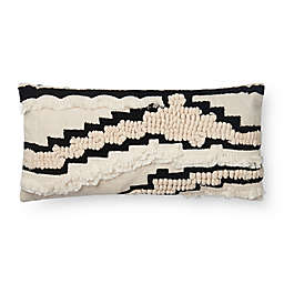 Magnolia Home by Joanna Gaines Elise Oblong Throw Pillow in Natural/Black