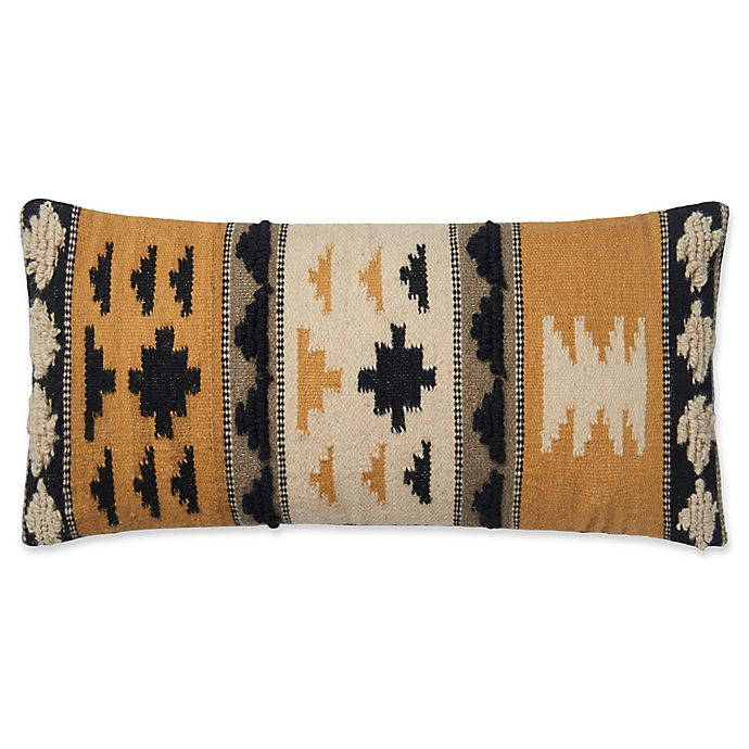 Alternate image 1 for Magnolia Home by Joanna Gaines Walton Oblong Throw Pillow in Gold/Black
