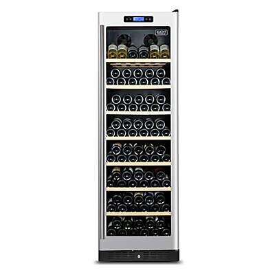 Kucht 177-Bottle Dual Zone 2-Door Wine Cooler in Stainless Steel